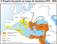 L'Empire Byzantin sous Justinien.
